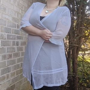 Secret Treasure Lilac Sheer Duster Robe